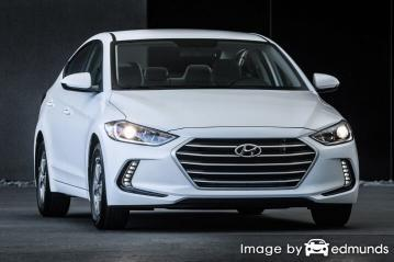 Insurance rates Hyundai Elantra in Chula Vista