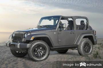Insurance rates Jeep Wrangler in Chula Vista